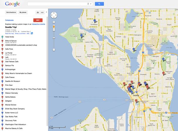 Trip Planning Google Maps  Map Amp Menu